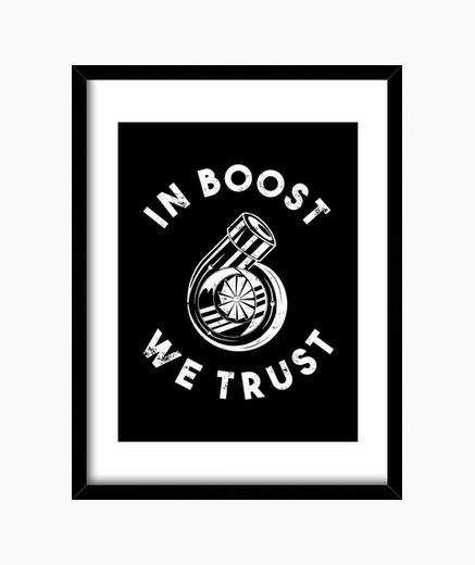 Cuadro en boost confiamos en el regalo del...
