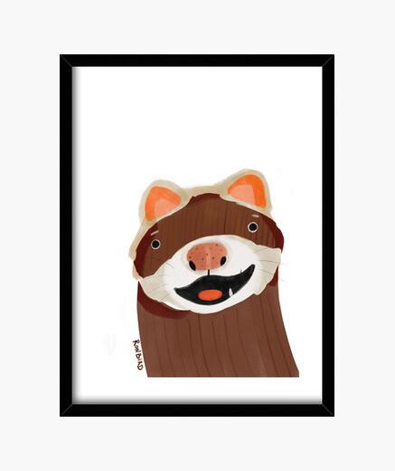 Cuadro Ferret cartoon - hurón