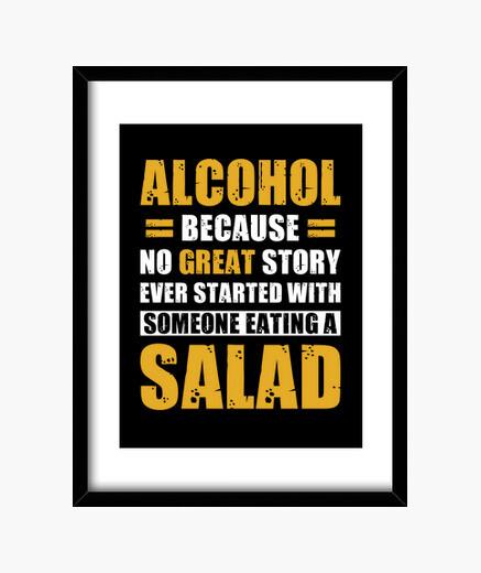 Cuadro fiesta alcohol diciendo gracioso
