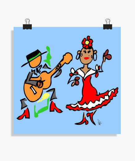 Póster cuadro flamenco
