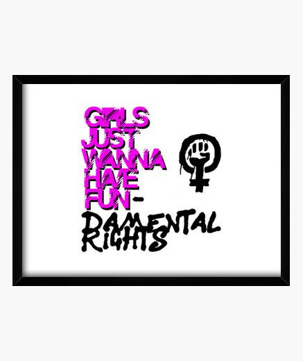 Cuadro Girls Just Wanna Have Fundamental...