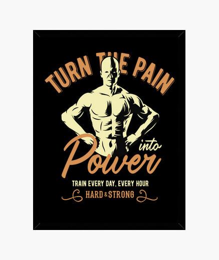 Cuadro Gym Entrenamiento BodyBuilding...