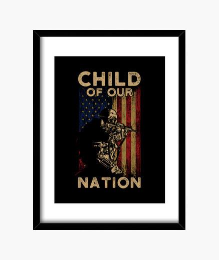Cuadro hijo de nuestra nación nosotros...