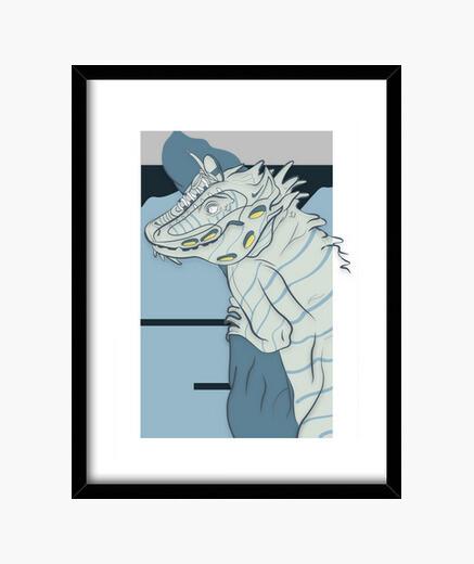 Cuadro Iguana