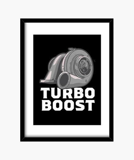Cuadro jdm turbo boost tuning regalo para...