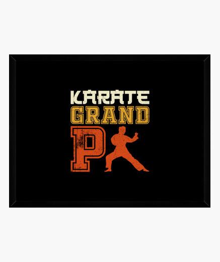 Cuadro karate abuelo karate
