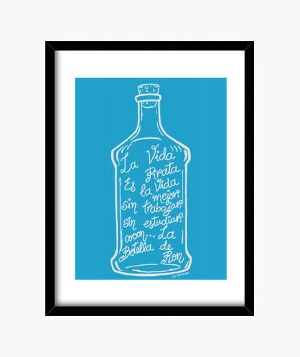 Cuadro La Botella de Ron.(blanco)