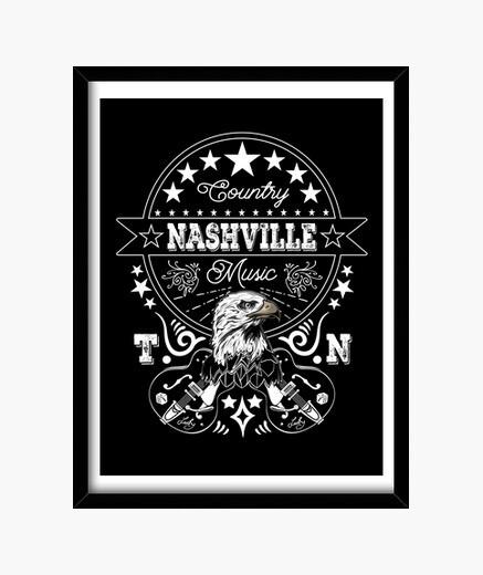 Cuadro Lienzo Retro Nashville Tennessee...