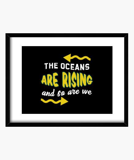 Cuadro los océanos están subiendo y...