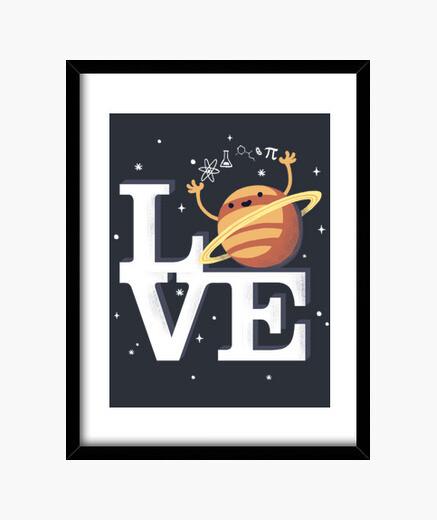 Cuadro Love science print