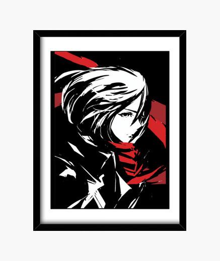Cuadro Mikasa Ackerman - Ataque de los...