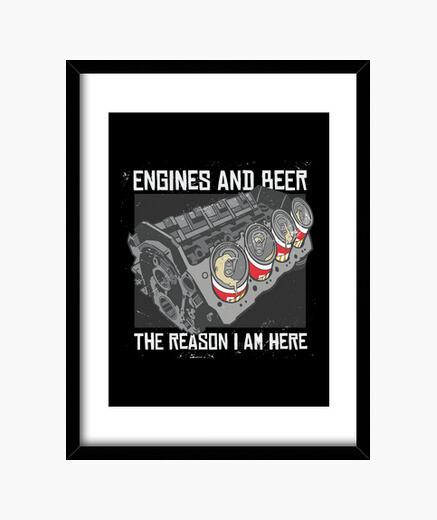 Cuadro motores y cerveza la razón por la...