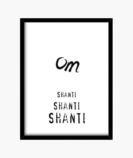 Cuadro Om Shanti (15 x 20 cm)