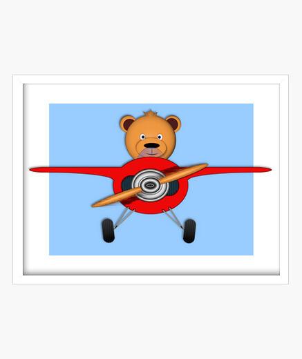 Cuadro oso aviador