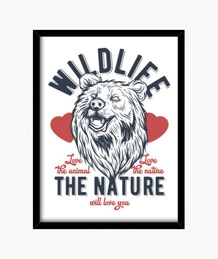 Cuadro Osos Naturaleza Amor Animales Wild...