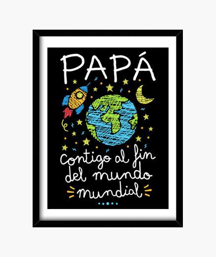 Cuadro Papá contigo al fin del mundo