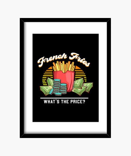 Cuadro papas fritas cual es el precio