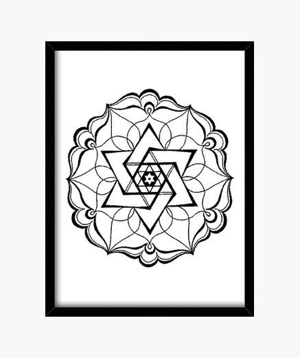 Cuadro pentagrama negro