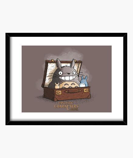 Cuadro Personajes Fantasticos Totoro print