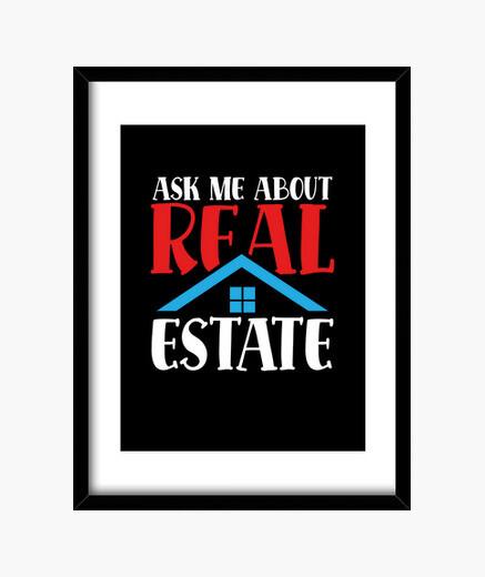 Cuadro pregúntame sobre bienes raíces
