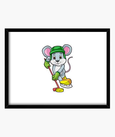 Cuadro ratón en hockey sobre hielo con...
