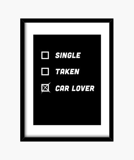 Cuadro regalo de amante de un coche