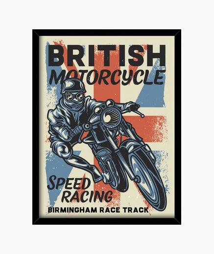 Cuadro Retro Motos British Motorcycle...