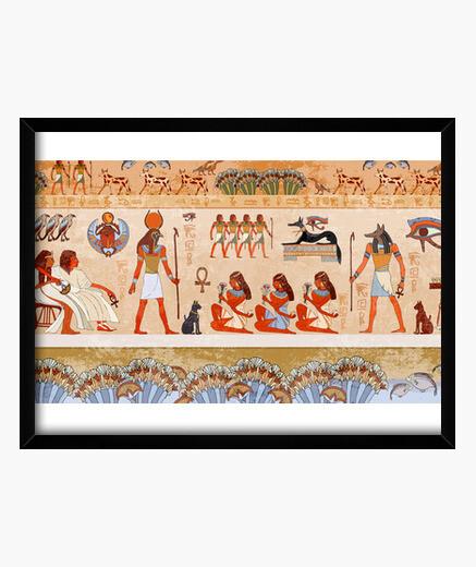 """Cuadro Ritual egipcio (""""dioses""""..."""