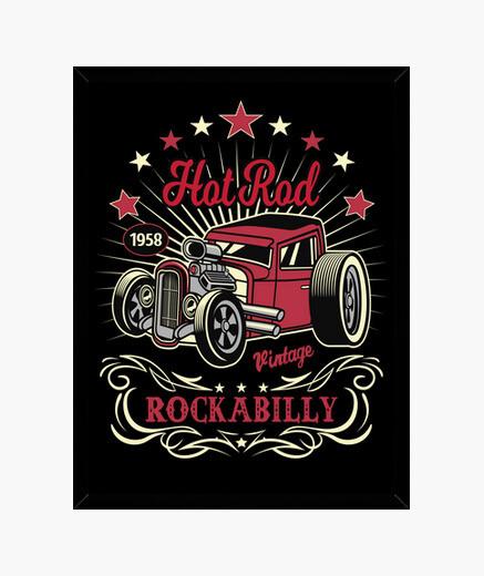 Cuadro Rockabilly American Hot Rod 1958...