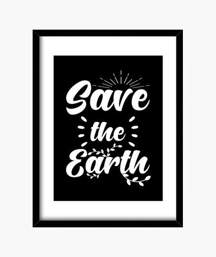 Cuadro salvar a los ecologistas de la tierra