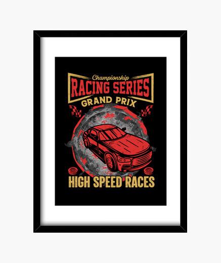 Cuadro serie de carreras de coches