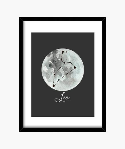 Cuadro signo zodiacal Leo horóscopo