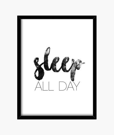 Cuadro Sleep All Day