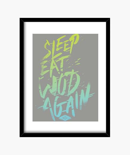 Cuadro Sleep, Eat, Wod, Again