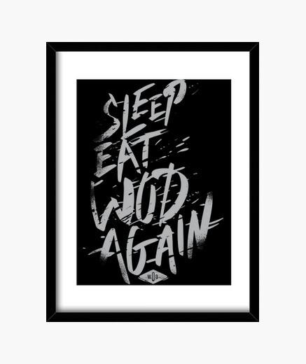 Cuadro Sleep, Eat, Wod, Again vol. 3