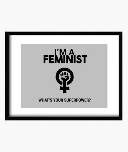 Cuadro Soy Feminista