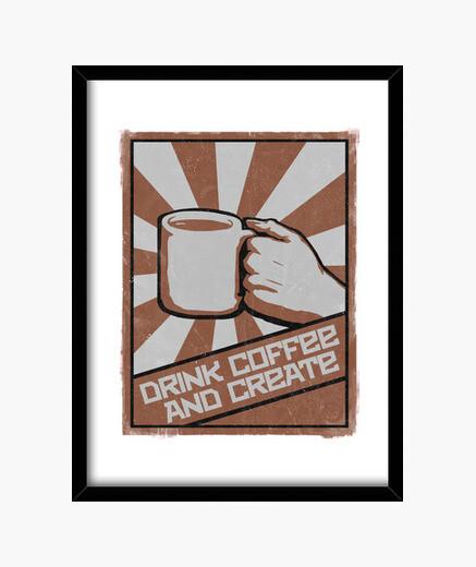 Cuadro tomar café y crear