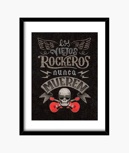 Cuadro Viejos Rockeros Print