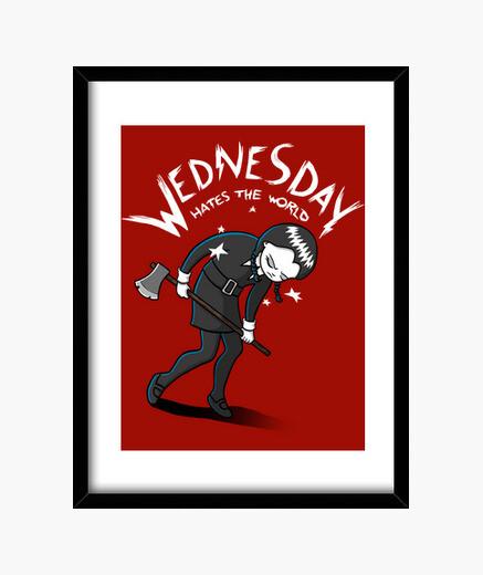 Cuadro Wednesday Hates The World