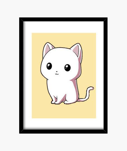 Cuadro White Cat