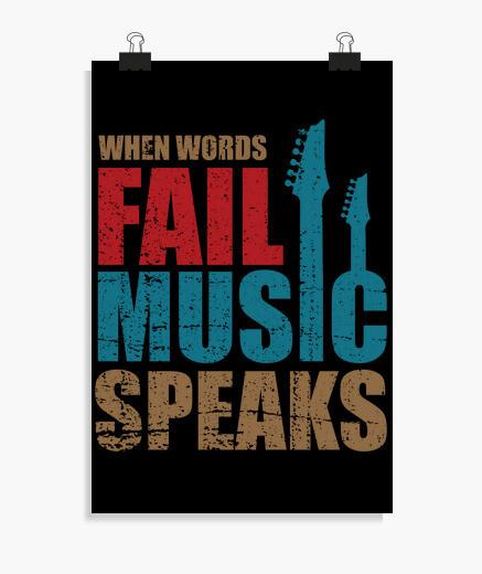 Póster cuando las palabras fallan la...