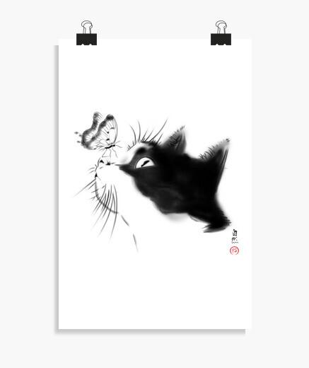 Póster Curious Cat