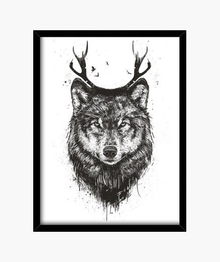 Cuadro Deer wolf
