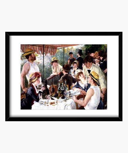 Cadre déjeuner de les  fête  de canotage (1880-1881)