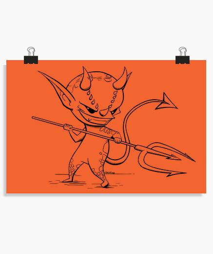 Poster démon - affiche horizontale