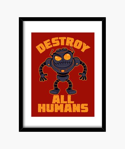 Cadre détruire tous les robots en colère huma