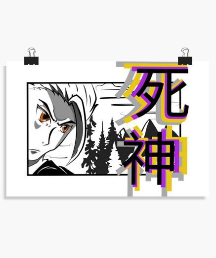 Póster dibujo de manga cuento de dioses