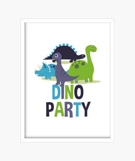 Cuadro Dino party