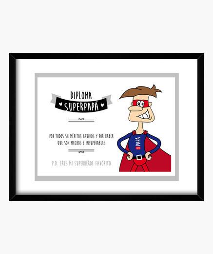 Cuadro Diploma superpapá