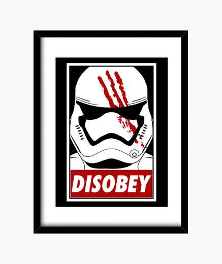 Quadro disobey (nero)